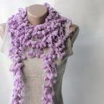 Light Purple Crochet Scarf