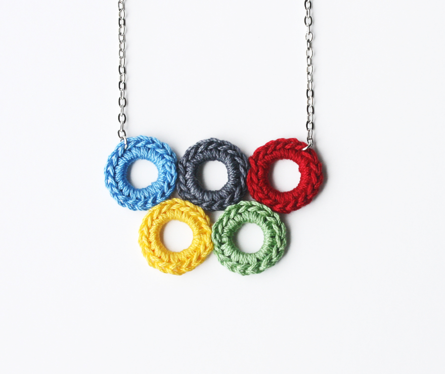 Colorful olympic circle necklace