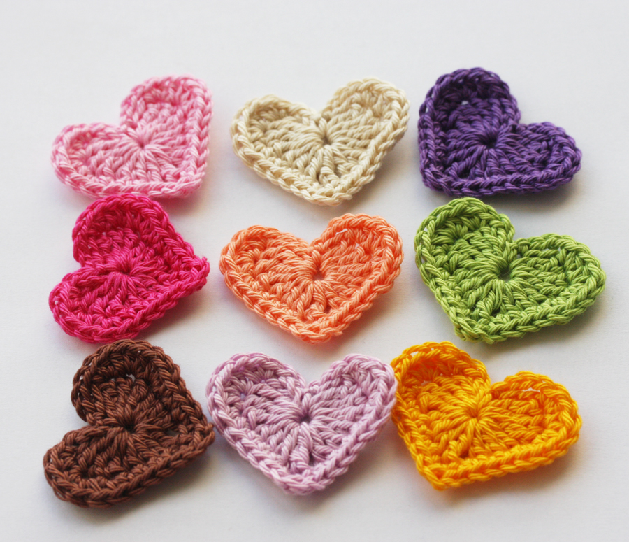 rainbow crochet hearts rainbow crochet hearts by scarfland store sales ...