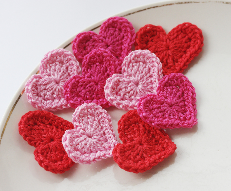 Crocheting Hearts : crochet hearts pink red crochet hearts pink red by scarfland store ...